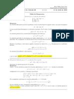 Corrección primer parcial de Cálculo III (Ecuaciones Diferenciales), jueves 11 de abril de 2019