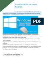 Windows 10 Características Nuevas Funciones y Mejoras
