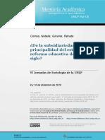 Correa y Giovine Subsidiaridad Del Estado