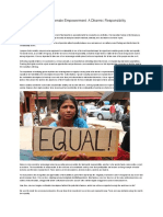 Gender equity and female empowerment
