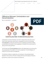 Difference Between Centralization and Decentralization (With Comparison Chart) - Key Differences