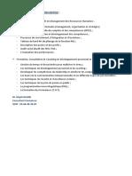 Thèmes Et Domaines d'Intervention _ M