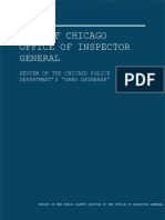 Chicago Inspector General's Gang Database Review