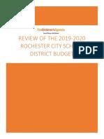 The Children's Agenda - RCSD Budget Review 2019 2020