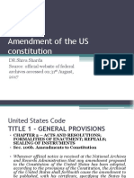 Amendment of the US Constitution