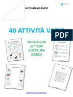 40 Attività Varie Su Lettura Scrittura e Linguaggio