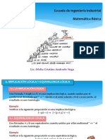 Implicancia y Equivalencia Lógica-leyes Del Álgebra de Proposiciones-Inferencia Lógica y Sus Leyes