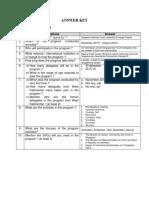 Answers Key - SIYLEP - Version 1
