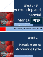 Review Week 1 - 5 Accounting & Financial Management