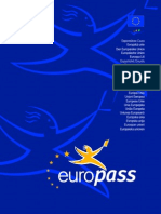 Euro Pass Cover Page Blue en GB