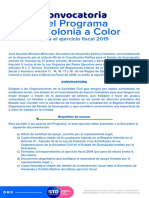 Convocatoria Mi Colonia a Color