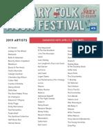 Calgary Folk Music Festival Full Lineup