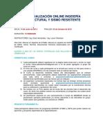 Descripción Especialización Online Ingeniería Estructural Sismorresistente