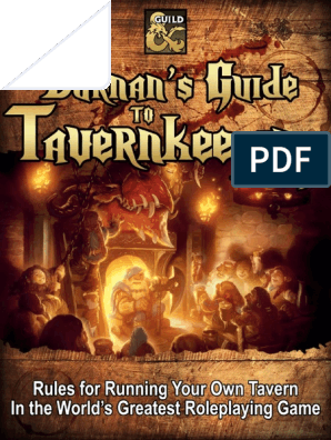 Durnan's Guide to Tavernkeeping_v11 pdf | Pub | Dungeons & Dragons