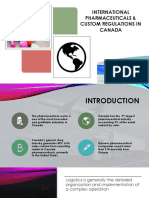 Pharmaceutical Custom Regulations Canada