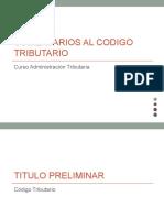Comentarios Al Codigo Tributario-At