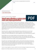 Você Tem Direito a Uma Conta Corrente Com Serviços Gratuitos _ Blog Samy Dana Da Rede Globo