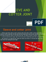 Cotter and Sleeve Joint