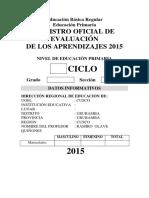 registro de evaluacion