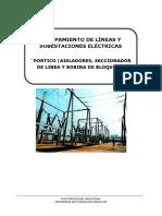 PORTICO (AISLADORES, SECCIONADOR DE LINEA Y BOBINA DE BLOQUEO ...docx