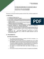 Informe Final de Toma de Inventario
