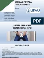 Rotura Prematura de Membrana y Parto Prematuro