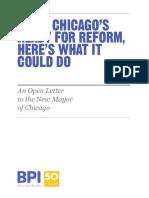 BPI Open Letter to Chicago's New Mayor