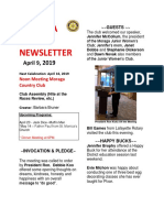 Moraga Rotary Newsletter April 9 2019
