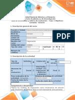 Guía de Actividades Fase 1 - Determinar Objetivos, Contexto, Actores y Acontecimiento Precipitante Del Escenario