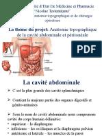 Anatomie Topographique de La Cavité Abdominale Et Péritonéale