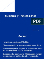 Cursores y transacciones