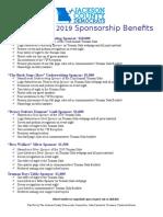 Truman Gala 2019 Sponsor Benefits