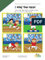 Sequencing Worksheet Race