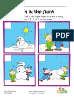 Sequencing Worksheet Snowman