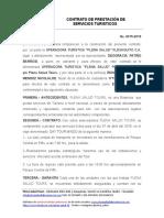 Contrato de Prestación de Servicios Turisticos.