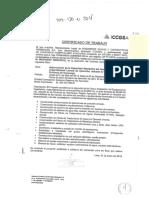 Modelo de Certificado de Trabajo