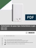 1.-Calentador de Paso Tipo Instantáneo a Gas