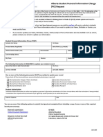 Alberta Student Personal Information Change Form