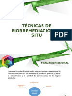 Tecnicas de biorremediacion Insitu e Exsitu