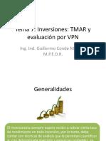 Tema 7 - Inversiones TMAR y evaluación por VPN.pptx