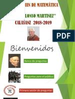 Concurso de Matematica Jesus Alonso Martinez 2018-2019