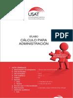 Sílabo de Cálculo Para Administración 2014 - i