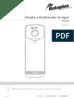 ROTOPLAS Manual Purificador y Alcalinizador Instructivo BAJA-8