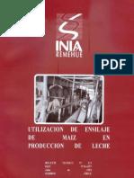 Utilizacion de Ensilaje de Maiz en Produccion de Leche