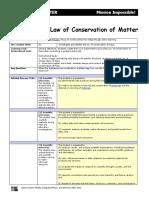 Conservation of Matter Lab