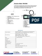 Vibration Meter VM-6360DataSheet
