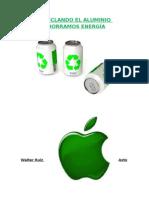 RECICLANDO EL ALUMINIO AHORRAMOS ENERGÍA