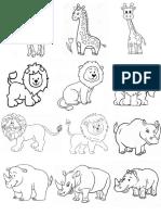 Dibujos Animales p Colorear