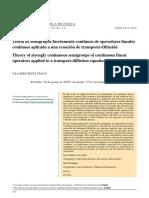 V6N2 2 Galo Teoria de Semigrupos Fuertemente Continuos de Operadores Lineales Continuos Aplicada a Una Ecuacion de Transporte Difusion