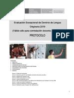 protocolo evaluación lengua originaria 2019